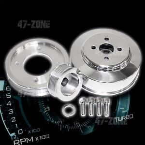 Billet Aluminum 1994 95 Ford Mustang Cobra Gt 5 0l Serpentine Pulley Set Polish