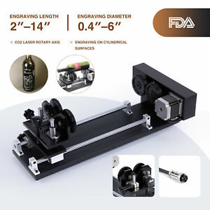Rotary Axis Attachment For 20 X 12 28 X 20 50w 60w 80w Co2 Laser Engraver