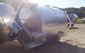 Used 2 500 Gallon Stainless Steel Tank W Top Mounted Mixer Plus Rake Skimmer 2