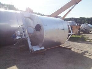 Used 2 500 Gallon Stainless Steel Tank W Top Mounted Mixer Plus Rake Skimmer Nj