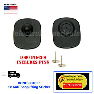 1000 Checkpoint Compatible Store Loss Prevention Sensor Hard Tags W Pin Bonus