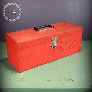 Vintage Kennedy Red Tool Box