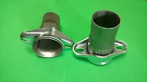 2 5 Header To 2 25 409 Stainless 2 Bolt Ball Socket Header Collectors Usa