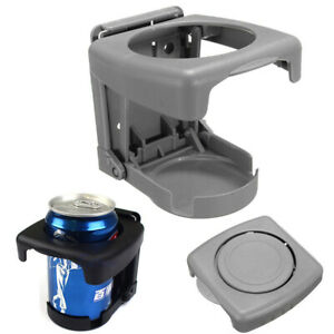 Gray Auto Vehicle Truck Folding Beverage Bottle Can Cup Holder Stand Mount
