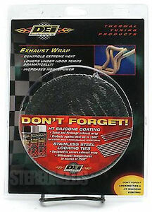 Dei 010116 2 X 100 Exhaust Manifold Header Downpipe Heat Wrap Black High Temp