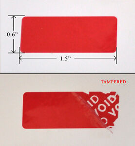 1 000 Security Seals Tamper Evident Warranty Void Labels Stickers red 1 5 X 6