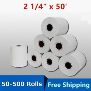 50 500 Rolls Case 2 1 4 X 50 Cash Register Pos Receipt Thermal Paper Bpa Free