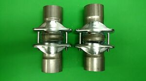 2 50 Header To 2 50 409 Stainless Ball Socket Header Collector Made In Usa