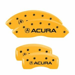 Brake Mgp Caliper Dust Covers Front Rear Yellow Paint Wheels Acura Tl 2009 2014