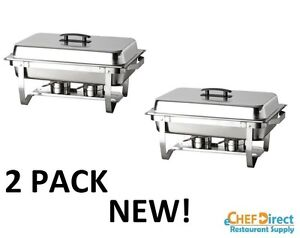 2pack Stainless Full Size Folding Chafing Dish Sets Chafer Warmer Catering