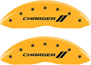 Brake Mgp Caliper Cover Front Rear Stripes Yellow Paint Dodge Charger 2011 2016