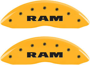Brake Mgp Caliper Dust Covers Ram Rear Ramhead Yellow Paint Ram 1500 2011 2016