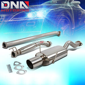 For 02 06 Acura Rsx Dc5 Type s K20a2 4 ovaltip Stainless Exhaust Catback System