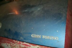 1972 1973 Ford Torino Gran Torino Formal Roof Trunk Decklid W Latch Nice Used