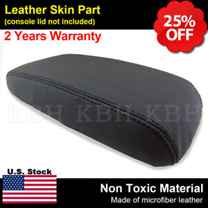Leather Armrest Center Console Lid Cover Fits For Honda Civic 2012 2014 Black