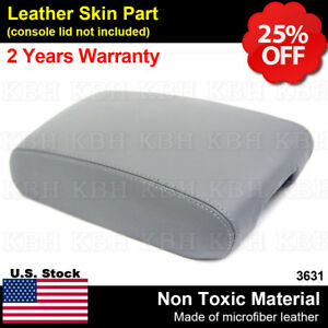 Leather Armrest Center Console Lid Cover Fits Jeep Grand Cherokee 2011 2019 Gray