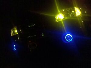 2001 2007 Toyota Sequoia Blue Halo Fog Lights Lamps Angel Eyes Foglamps Kit