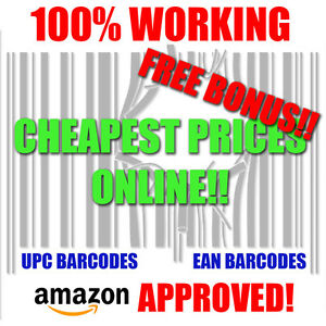 100 000 Upc Barcodes Numbers Bar Code Number 100000 Ean Amazon Approved