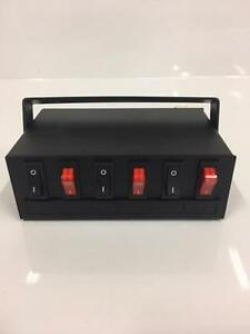 Led Light 6 Gang Switch Box Control Unit Fuse Protection Caution Emergency Light