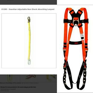 3m Safety Body Harness Guardian 4 6 Non shock Absorbing Adjustable Lanyard