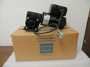Bodine Electric 1 8 Hp 130 Volt Dc Right Angle Gear Motor Model 6141 New