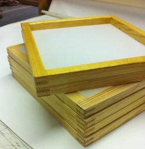 6 Wood Silkscreen Frames 20 X 24 Mesh 110 White Or Yellow Mesh