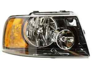 New Ford Expedition 2003 2004 2005 2006 Right Passenger Headlight Black Housing