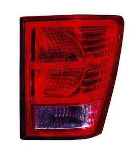 New 2007 2008 2009 2010 Tail Light Right Passenger Fit For Jeep Grand Cherokee