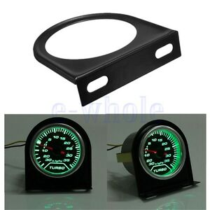 2 52mm Car Auto Dash Single One Hole Pod Gauge Meter Mount Holder Cup Black Tw