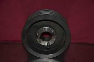 Dodge 4 Groove V belt 8 875 Pulley Sheave With 2 1 8 Bushing