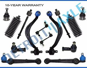 New 14pc Front Lower Control Arm W Ball Joint Inner Outer Tie Rod Kit