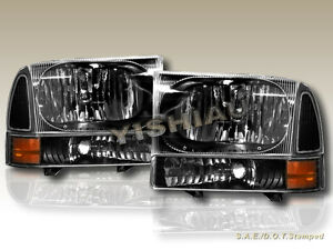 1999 2000 2001 2005 Ford F250 f350 Excursion Headlights