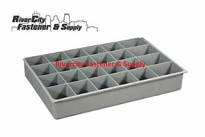 4 Large Plastic Insert 24 Hole Storage Tray For Nuts Bolts And Washers
