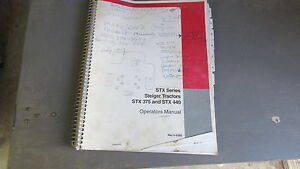Steiger Stx375 Stx440 Tractor Owners Manual Rac 6 6280