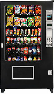 Ams Combo Glass Front X 2 Soda snack candy Vending Mach Brand New made In Usa