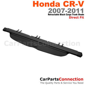Blk Retractable Cargo Cover Rear Security Trunk 07 11 For Honda Cr v Lx Ex
