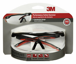 Blk red Safety Glasses no 47090 wz4 3m 3pk