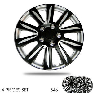 New 15 Inch Hubcaps Silver Rim Wheel Covers Hub Cap Full Lug Skin Set For Vw 546