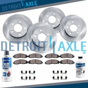 Front Rear Rotors Ceramic Pads 2000 2002 2003 2004 2005 Chevy Impala Monte
