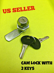 Lot Of 20 Cam Lock File Cabinet Mailbox Desk Drawer Cupboard Locker 2 Keys 90