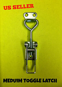 20 Pcs Steel Draw Medium Toggle Latch Catch For Case Box Chest Safety Hardware