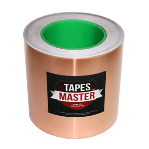 6 X 36 Yds 152mmx33m Copper Foil Tape emi Conductive Adhesive ship From Usa