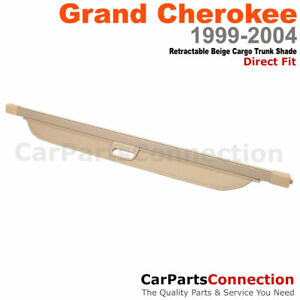 Tan Retractable Cargo Cover Rear Trunk Security Blind 99 04 Jeep Grand Cherokee