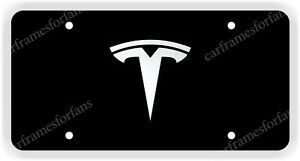 tesla License Plate Custom Made Of Chrome Plated Metal
