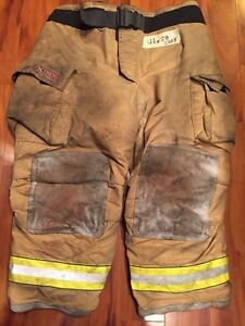 Firefighter Turnout Bunker Pants Globe 46x28 G Extreme Halloween Costume