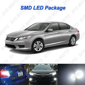 16 X 2013 2015 Honda Accord Ultra White Led Interior Bulbs Fog Reverse Lights