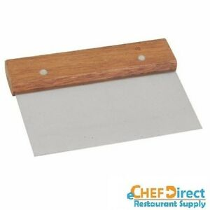 6 X 4 Stainless Steel Blade Dough Scraper With Wood Handle