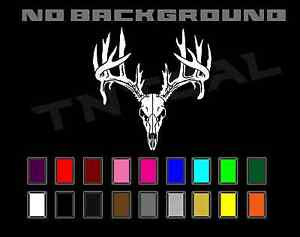 Deer Skull Antlers Non Typical Buck Hunting Decal Sticker Car Truck Window