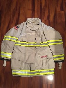 Firefighter Turnout Bunker Coat Globe G extreme 44x35 White Chief