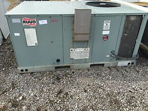 Liquidation Ruud 3 Ton Package Heating cooling Unit 5655